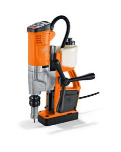 See here this Mag Dril from Fein. Known as the Fein KBU 35 MQW Mag Core Drill. All Rotabroach and Magdrill HSS Cutters and Mag Drill Bits fit this machine