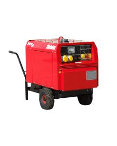 Shindaiwa ECO 200 Diesel Welder Generator on Wheelbarrow
