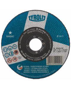 "Tyrolit 4 1/2"" (115MM) x 1MM 1 Star Cutting Disc"
