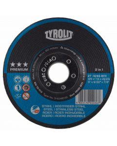 "Tyrolit 5"" (125MM) x 7MM 3 Star Premium Grinding Disc"