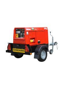 Shindaiwa ECO 300 Diesel Welder Generator with Road Tow Trailer