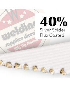 40% Silver Solder  Flux Coated 1.5mm x 500mm