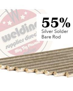 Silver Solder Flux Coated 55% 1.5mm x 500mm
