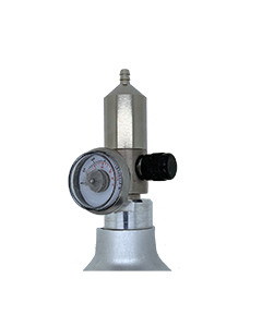 This is a Calibration Gas Regulator for Bump Test Gas Cylinder (s), Span Gas Cylinder (s) use this Regulator. See here Calibration Gas Cylinder (s) to meet your requirement.