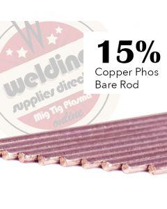15% Copper Phosphorus 2.0mm x 500mm Brazing Rod