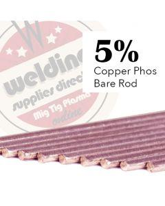 5% Copper Phosphorus 2.0mm x 500mm Brazing Rod