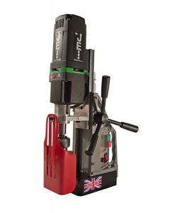 see here a Mag drill from JEI Its called a JEI Magbeast HM50 Mag drill. Mag Drill bits fit, Look at the bottom to see where they fit.