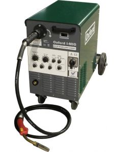 Oxford I-MIG 330 Synergic Pulse Compact Multi Process MIG Welder - Dual Voltage 230V / 400V with MB36 Binzel torch and gas regulator