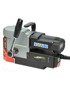 Look at the Mag drill from JEI its called a JEI Minibeast LP35+ Mag Drill. See where Mag Drill bits fit at the bottom.