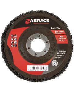 115MM ABRACS POLY DISC - BLACK