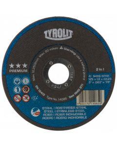 """Tyrolit 4 1/2"""" (115MM) x 1MM 3 Star Premium Cutting Disc"""
