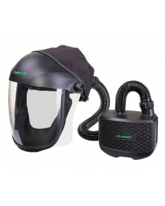 Here you will see a Universal Horizon P3 PAPR System with Clear Visor.