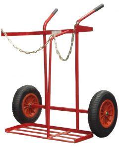 "16"" Pneumatic Tyre Oxygen / Propane Cylinder Trolley"