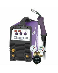 Parweld XTM 161i MIG Welder with MIG torch and gas regulator